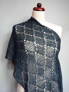 lace shawl by Fluxx, via Flickr slip st crochet