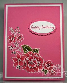 Stamping Styles: Monochromatic Blossoms
