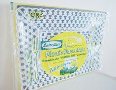 Vintage Plastic Placemats Four Lustro Ware White by mothrasue, $20.00