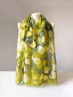 Linden silk scarf hand painted by #minkulul Luiza #Malinowska