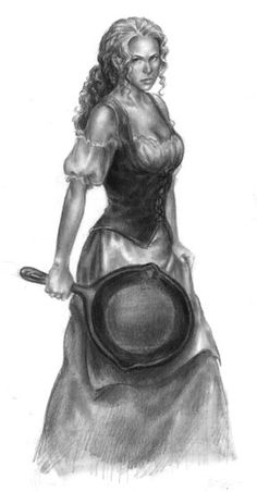 Tika Illustration: DragonLance by LinzArcher.deviantart.com on @deviantART