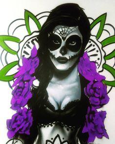 El #graffiti de la semana es para esta #katrina.  #arteurbano #urbanart #bogota #graphicdesign