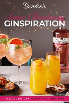 Get ginspired with a cheeky Gordon's cocktail to get the party season started 😉🍸🥂🎄 Gin Recipes, Gin Cocktail Recipes, Alcohol Recipes, Cocktail Drinks, Alcoholic Drinks, Liquor Drinks, Recipies, Pink Gin Cocktails, Fancy Drinks