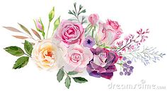 Hand Painted Watercolor Mockup Clipart Template Of Roses - Download From Over 52 Million High Quality Stock Photos, Images, Vectors. Sign up for FREE today. Image: 71923871
