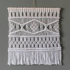 Macrame Wall Hanging - White Recycled Cotton Cord