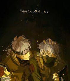 Sakumo and kakashi hatake (father and son)