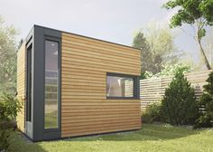 Your own backyrd office pod by British company Pod Space. They makes and sell prefabricated garden buildings. They are designed for use as guest rooms, studios, and home offices.