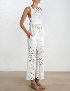 Coordinated Sets You Need In Your Life: Zimmermann Roza Broderie Pants ($350) and Open Back top ($415)
