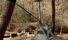 Hanging hammock tent is spacious like a regular tent | Inhabitat - Green Design, Innovation, Architecture, Green Building