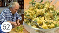 Warm Potato Salad with Jacques Pépin | At Home With Us Jacques Pepin Recipes, Warm Potato Salads, Jacque Pepin, Vegetarian Recipes, Healthy Recipes, Healthy Food, Vegetable Pasta, Clean Recipes, Fun Recipes