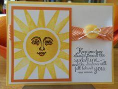 Stampin' Up! Ray of Sunshine stamp set.