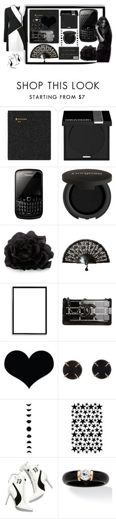 """Rihanna"" by bren-johnson ❤ liked on Polyvore featuring AT-A-GLANCE, MAKE UP FOR EVER, Gorgeous Cosmetics, Bomedo, Chanel, Melissa Joy Manning, Puma, Palm Beach Jewelry and Thierry Mugler"