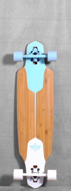 Dusters 38 Channel Longboard - Blue/White sleek, classic look. http://skateboardproshop.com
