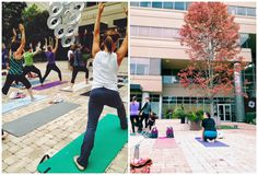 Yoga in Downtown Greenville, SC. Noma Square is a beautiful location right in the middle of downtown Greenville, SC to get your morning yoga in.