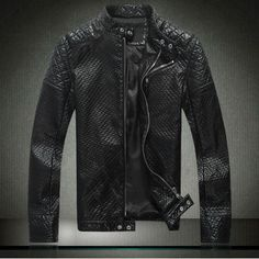New Skull design 2014 Famous Brand Winter Dress motorcycle jacket men's leather jackets and coats Thicken genuine leather jacket