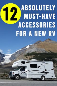 A brand new or used RV is going to need a few things. We've listed 12 must-have accessories that will get you started right. New Travel Trailers, Rv Travel, Travel Trailer Accessories, Camping Accessories, Cold Weather Camping, Used Rv, Buying An Rv, Rv Rental, Rv Life