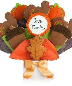 Give Thanks Cookie Bouquet - perfect for your Thanksgiving celebrations or hostess gifts