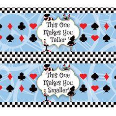 Image result for Alice In Wonderland 2-Liter Bottle Labels printable