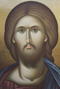 Gesù Byzantine Icons, Byzantine Art, Religious Icons, Religious Art, Christ Pantocrator, Greek Icons, Images Of Christ, Jesus Face, Russian Icons