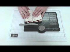 Besondere kartenformen: Karte mit Steckverschluß (Envelope Punch Board) - Video von Ilonka (Stempelzeit)