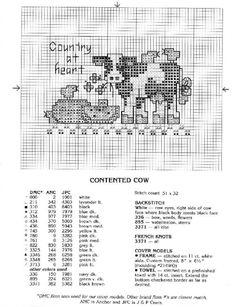 cow cross-stitch, koe kruissteek, vache point de croix