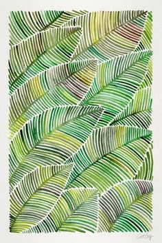 Art Vert, Art Pastel, Pastel Colors, Arte Linear, Art Et Nature, Art Graphique, Green Art, Zentangle Patterns, Leaf Art