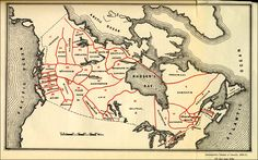 Map of Canada indicating the Territory Occupied by each Aboriginal Group, Census of Canada, 1870-71 #map #canada