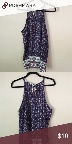 Top Sleeveless top with tie closure on back at neck Libian Tops Camisoles