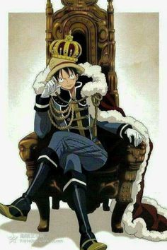 Luffy as King would be hilarious, he would spend everything on meat