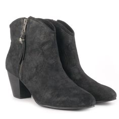 Ash JESS black suede ankle boots - Ash from Ash Footwear UK