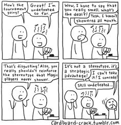 Cardboard Crack - Magic: The Gathering Comics Mtg Memes, Magic The Gathering Cards, Magic Cards, Funny Cards, Cool Cards, Caricature, The Funny, Stupid, Funny Jokes