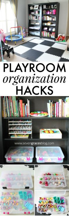 7 organization hacks to get your playroom in tip-top shape! From Creative Options…Playroom Organization Hacks. 7 organization hacks to get your playroom in tip-top shape! From Creative Options…