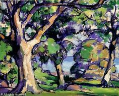 Samuel John Peploe, Douglas Hall, Kirkcudbright on ArtStack… Landscape Art, Landscape Paintings, Landscapes, French Paintings, Pastel Watercolor, Old Trees, Colorful Trees, Contemporary Abstract Art, Still Life Art
