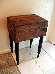 Primative Shipping Crate Table Berrys Cutty Sark Scotch Whiskey Crate New York…