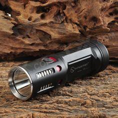 SUNWAYMAN T45C LED 980lm 8-Modus weiß Taschenlampe - Schwarz + Silber (2 x 18650)