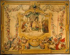 Manufacture Nationale des Gobelins (French, established 1662). The Memorable Judgement of Sancho Panza from a series of tapestries with scenes from Don Quixote (number twenty-four in a series of twenty-eight), designed 1727–55, woven April 1752–Dec. 24, 1754. The Metropolitan Museum of Art, New York. Gift of Mrs. Nanaline H. Duke and Miss Doris Duke, 1952 (52.215) #tapestrytuesday