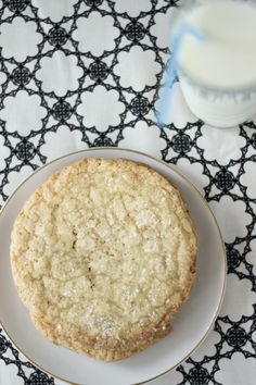 Always With Butter: Giant Sugar Cookies.  Was looking for a copycat of the sugar  cookies at Brueggers - these taste identical! soooo good! I used reduced fat sour cream too.