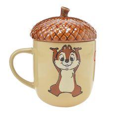 "Chip & Dale ""New Life"" Mug Disney Store Japan"
