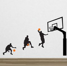 Basketball 7 Removable Vinyl Wall Decal Sticker Art Mural Home Decor