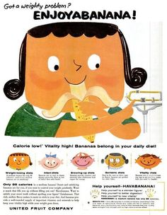 Chiquita Banana (1957-1958)     Such a quick, on the go healthy snack!