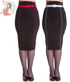 HELL BUNNY 50's KRISTINA femmes CRAYON PIN UP Jupe Moulante rockabilly NOIR in Vêtements, accessoires, Femmes: vêtements, Jupes | eBay