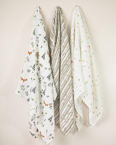 9e80b14d7f8 Cotton Swaddle Set - Forest Friends Purchase online