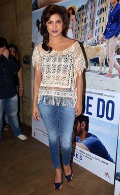 Priyanka Chopra at the trailer launch of 'Dil Dhadakne Do'.