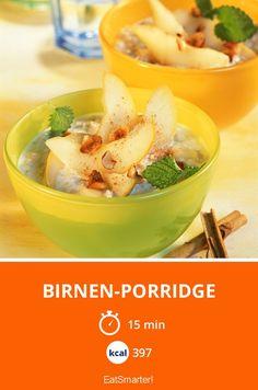 Birnen-Porridge - smarter - Kalorien: 397 Kcal - Zeit: 15 Min. | eatsmarter.de