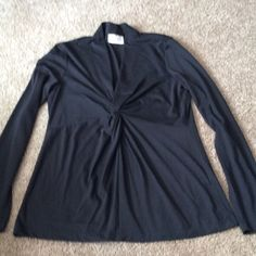 Eci Long Sleeve Knit Top M Comfortable knit top by Eci in excellent condition,black ,med.. ECI Tops Blouses