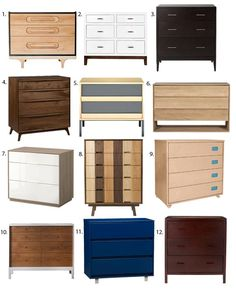 12 Favorite Modern Dressers - personally own the IKEA one and love it.