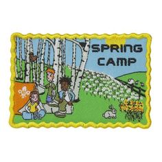 The Fun Spring Camp Badge for Scouts is great for sewing on your blanket to give it that personal touch. ALL profits go back to Scouting. Sewing Patterns Free, Free Pattern, Sewing Ideas, Scout For Sale, Weighted Blanket, Scouting, Sewing Clothes, Blankets, Camping