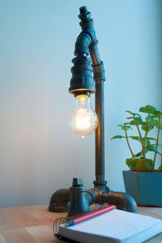Industrial+Iron+Pipe+Light+Fixture+The+Gentleman+by+BoltLighting,+$150.00