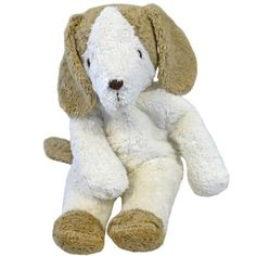 Organic Cotton Soft Plush Puppy Dog is handcrafted by a small family business in Germany. Made with superior craftsmanship of organic cotton and stuffed with lambswool. One of several you can choose from our collection by Senger.
