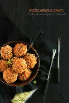 Boulettes automnales butternut champignon châtaigne